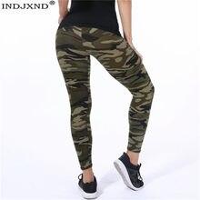 Indjxnd leggings feminino alta elástica magro camuflagem legging verde do exército jegging fitness leggins ginásio esporte plus size xxxl calças