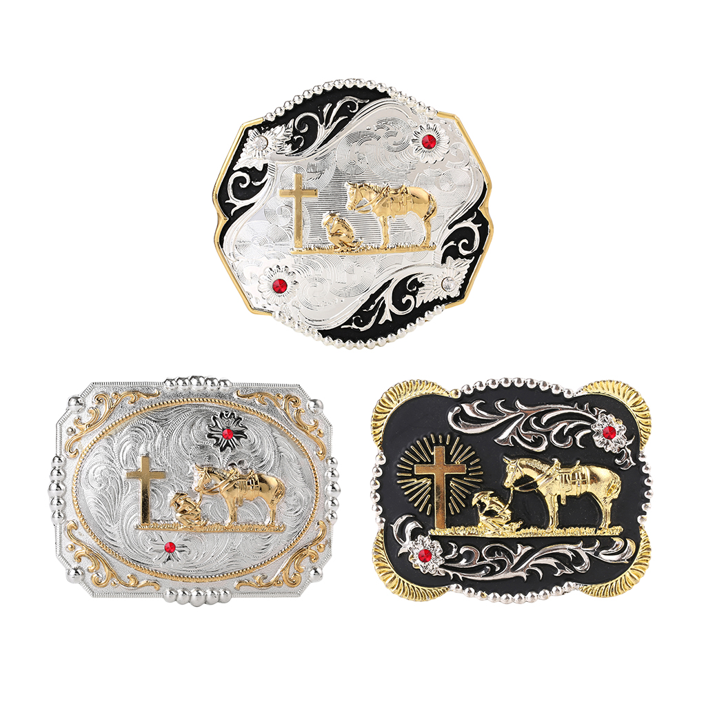 Vintage Style Cowboy Knight Belt Buckle Classic Western Buckle For Men Women