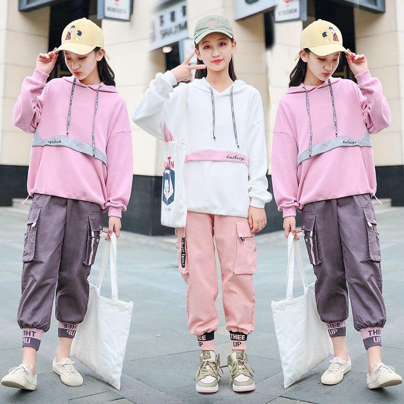Teenage Girls Hoodie Sweatpants Set 2PCS Hoodies Sweatshirt & Long Pants  Sets Sport Wear Kids Cropped Hoodie Set 7 9 11 13 15 Y|Clothing Sets| -  AliExpress