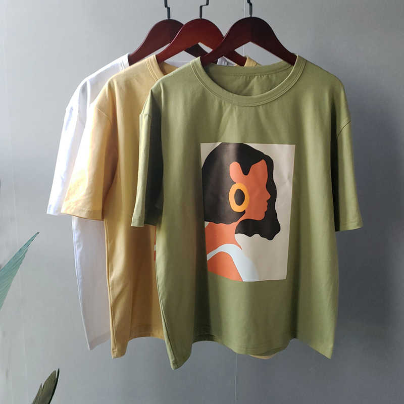 2020 Summer Character T Shirts Fashion Girls Korea Style Tops Short Sleeve Printing T Shirts Korean Women Clothes T Shirts Aliexpress