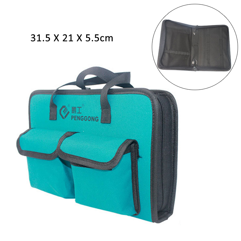 600 Oxford Cloth Tool Bag Portable Electrician Bag Thicken Large Capacity Bag For Tools Travel Bags Men Crossbody Bag Tool Bags