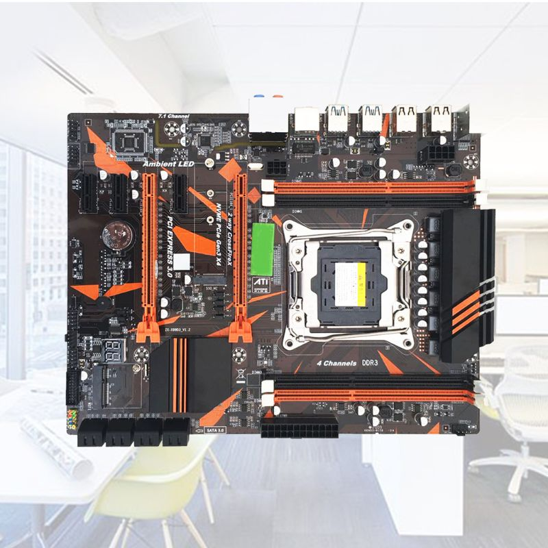 X99 2011-V3Pin DDR3 Desktop Computer Mainboard Gaming Motherboard for E5 2678V3 2696V3 2629V3 2649V3 2668V3 2676V3 CPU image