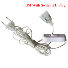 Wire-Extension-Cable Plug-Extender String-Light Led Garland Wedding-Decoration Eu/Us-Plug