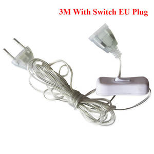 Wire-Extension-Cable Plug-Extender String-Light Led Garland Wedding-Decoration Natal