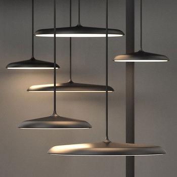 Modern Simple LED Art Design Pendant Light UFO Round Pendant Light Suitable for bedroom hall dining room study pendant lamp цена 2017