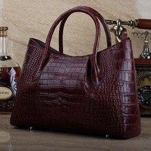 ourui крокодиловой кожи женская сумка черная женская сумка новый подлинный крокодила кожаный женщин сумки