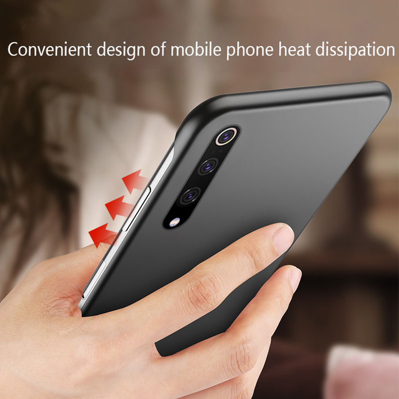 Case For Xiaomi 9T Pro Mi 9 SE Luxury Ultra Thin Matte Frameless Hard PC Plastic Protective Case Cover For Xiaomi Redmi K20 Pro in Fitted Cases from Cellphones Telecommunications