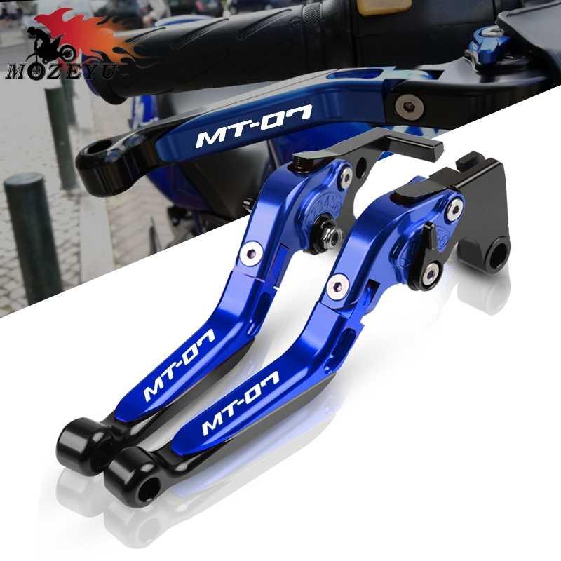 Niebieski nowy dla YAMAHA MT-07 FZ-07 MT07 FZ07 2014-2019 2018 2015 CNC motocykl regulowane dźwignie hamulcowe składane wysuwane sprzęgło dźwignia