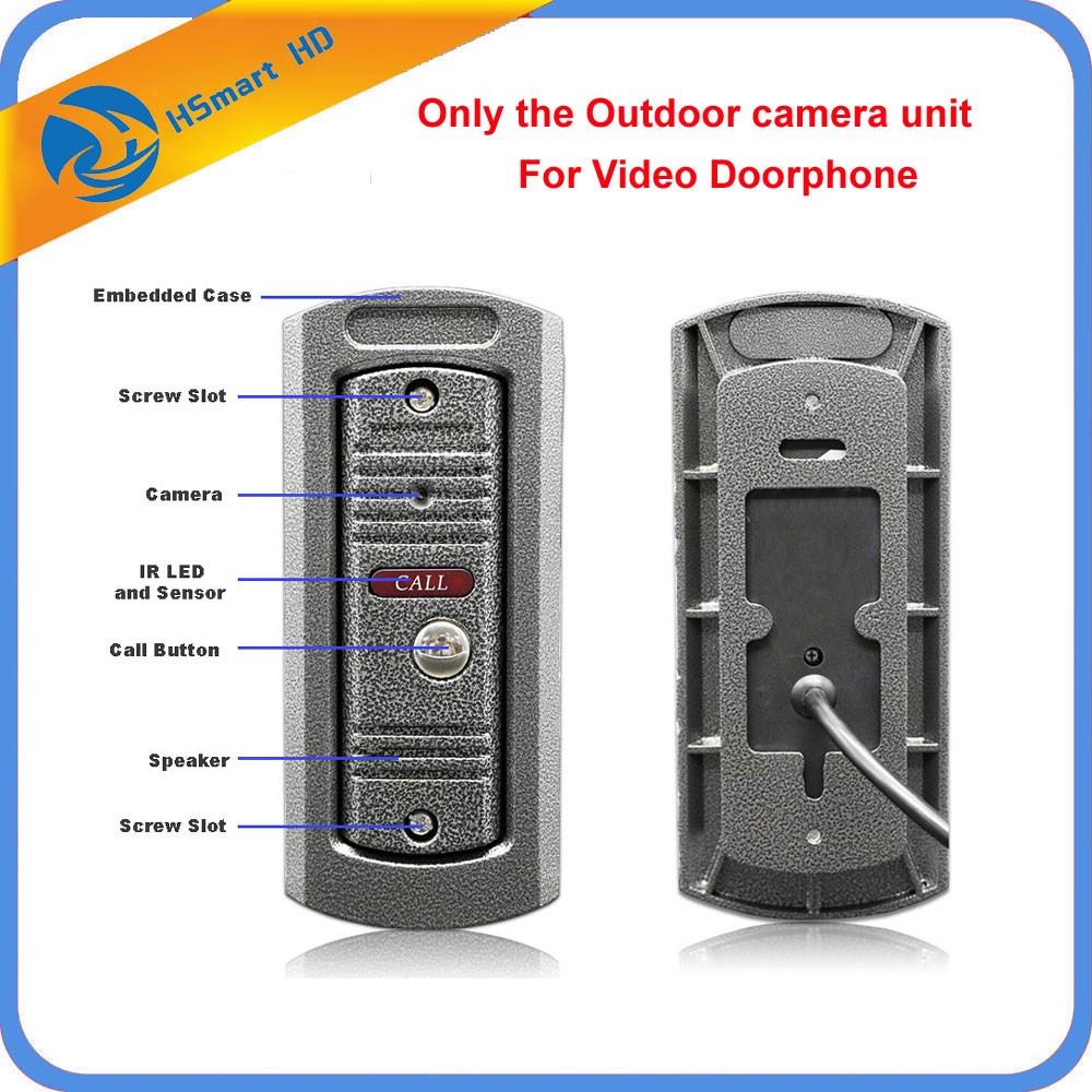 HD 1200TVL IP65 Waterproof Night Vision Metal Explosion-Proof Outdoor Camera For Video Doorphone Door Bell Phone Intercom System