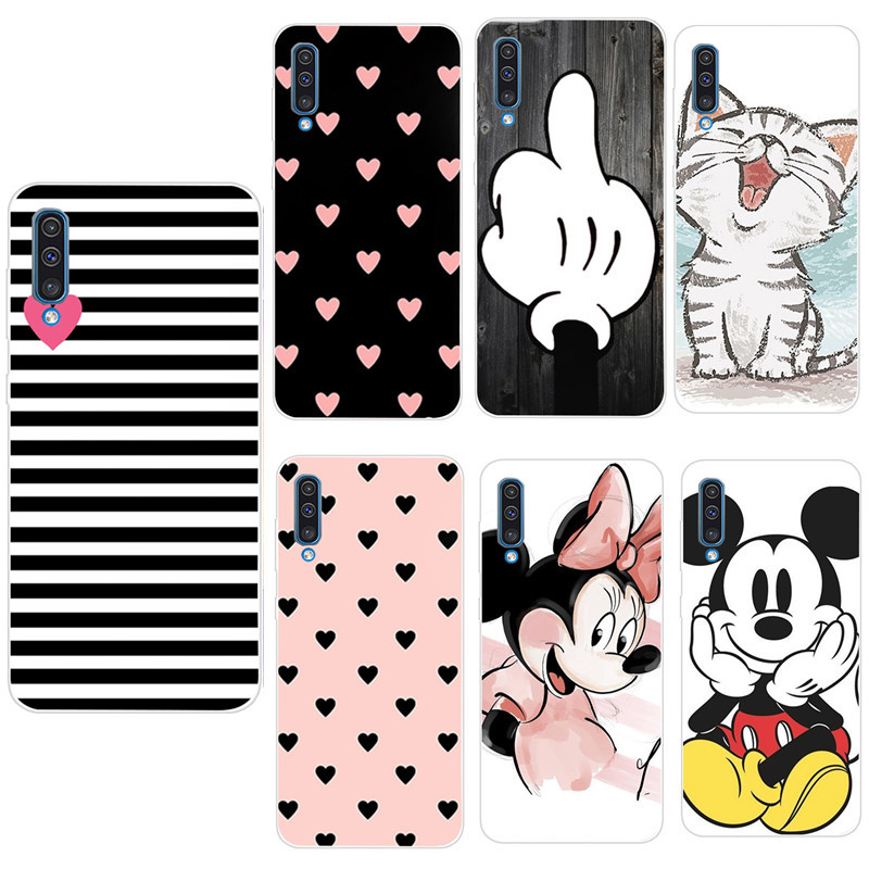 Soft Silicone TPU Case For Samsung Galaxy A50 Cases Fashion Back Case For Samsung A 50 A30 A20 A30S A50S Phone Cover