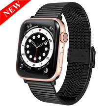 Stainless Steel Strap For Apple Watch band 42mm 38mm 1/2/3/4 Metal Watchband Bracelet Band for iWatch Series 4 5 6 SE 44mm 40mm