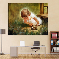 Child Angel DIY Painting By Numbers Kits Calligraphy Painting Acrylic Paint By Number For Home Decoration A work of art