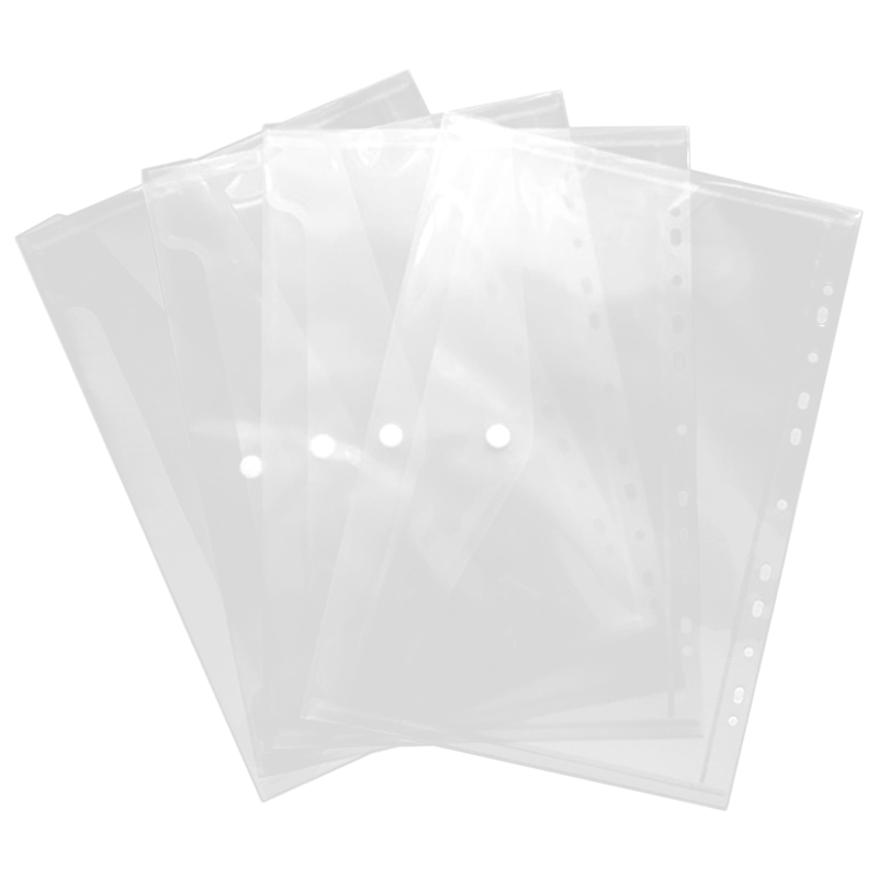 10Pcs <font><b>11</b></font> Hole Transparent A4 Document File Bag Plastic Folder File Bill Envelope Storage Bag Data School Paper Bag image