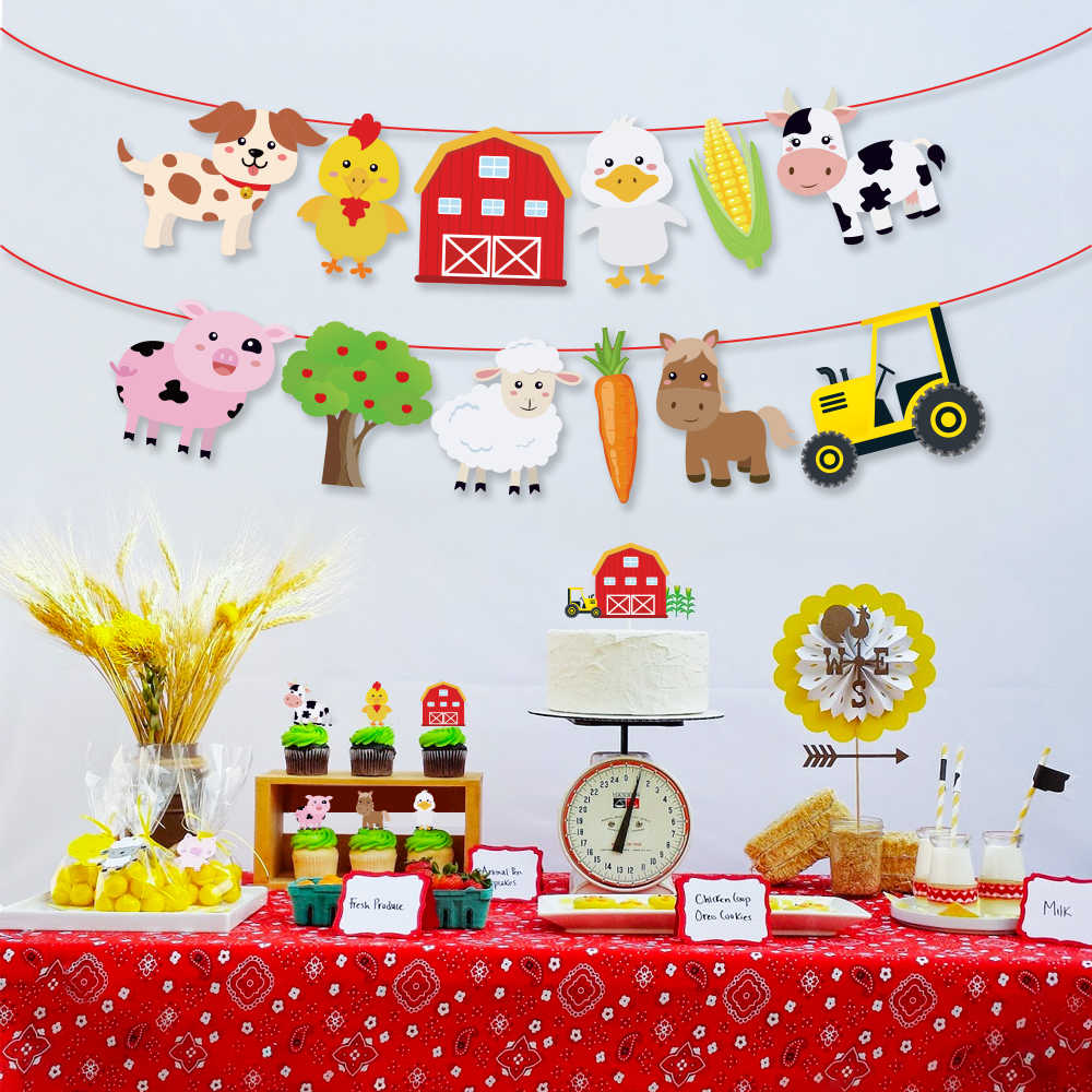 Swell Baby Shower Farm Party Decorations Kids Birthday Parties Favors Funny Birthday Cards Online Inifodamsfinfo