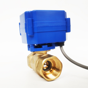 """Image 2 - 3/4"""" Brass electric ball valve, DC12V electric motorized valve with 2/3/5 Wires, DN20 electric motor vlave for HVAC"""