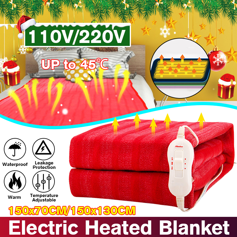 150x70cm 110V/220V Winter Electric Blanket Heater Single Body Warmer Heated Blanket Thermostat Electric Heating Blanket Warm Pad