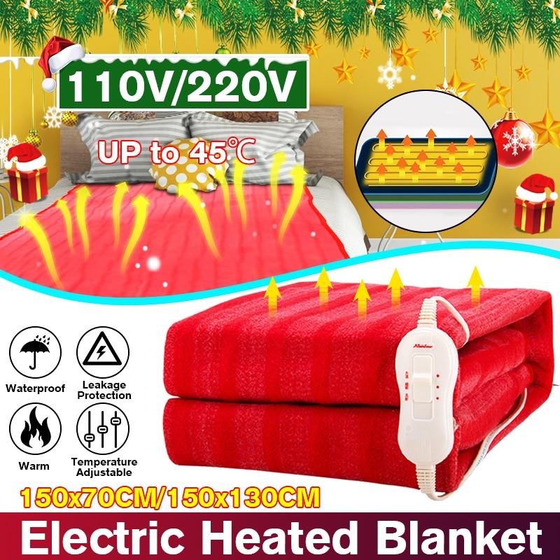 150x70cm 110V/220V Winter Electric Blanket Heater Single Body Warmer Heated Blanket Thermostat Electric Heating Blanket Warm Pad