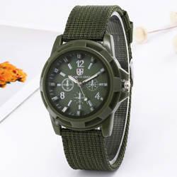 2019 Мужские кварцевые часы новейший дизайн мужские часы Военные Спортивные часы тканые холщовый ремешок мужские три глаза с