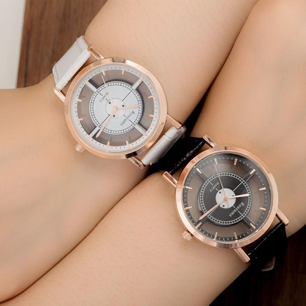 Creative Fashion Couple Watch Men And Women Trendy Retro Personality Strap Hollow Out Round Dial Student Quartz Wrist Watch