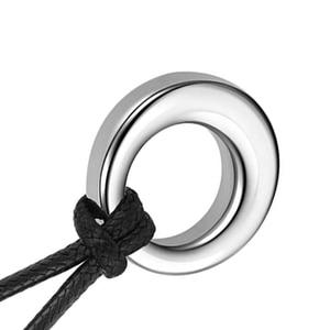 Круг вечности жизни из нержавеющей стали кремационная Ювелирная урна ожерелье золы Keepsake урна кулон ожерелье