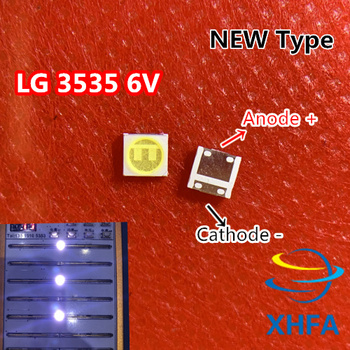XHFA 30PCS/Lot For LG SMD LED 3535 6V Cold White Chip-2 2W For TV/LCD Backlight TV Application image