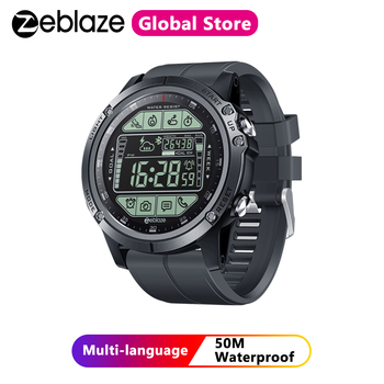 Zeblaze VIBE 3S Rugged Outdoor Smartwatch Real-time Weather Steps Calorie Distance Tracking IP67 Waterproof Smart Watch