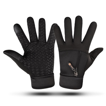 Touch Screen Winter Gloves Waterproof Gloves Men Women Zipper Riding Windproof Warm Fleece Mittens Skiing Cycling Riding Glove sparsil women winter velvet touch screen gloves warm fleece full finger cashmere mittens windproof elegant glove female girl