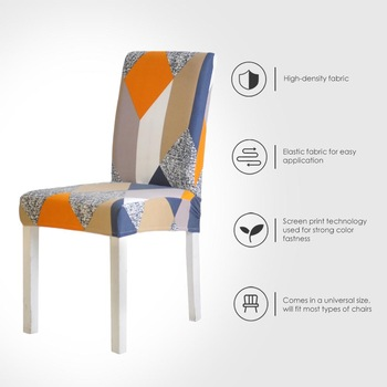 Spandex Chair Cover Stretch Elastic Dining Seat Cover for Banquet Wedding Restaurant Hotel Anti dirty Removable