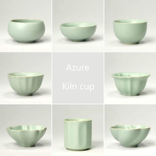 Chinese Ceramic Kung Fu Tea Cup Ru Kiln Porcelain Celadon Tea Set Drinkware One of China's Five Famous Kiln C стоимость