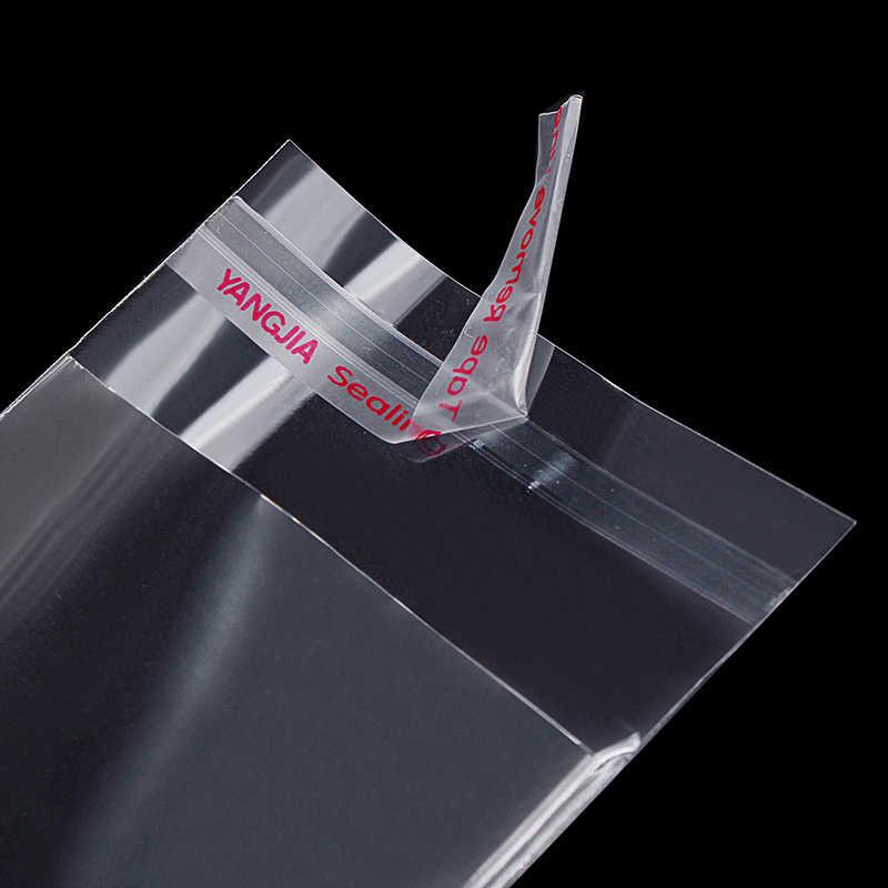 Plastik Transparan Diri Perekat Tas Penyegelan Diri Tas Kecil untuk Pen Perhiasan Permen Packing Ditutup Kembali Hadiah Kue Kemasan Tas