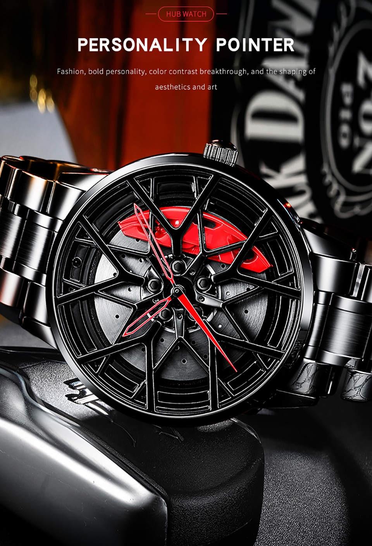 He9630d7927604801a420c5105bf4a0d0L NIBOSI 2020 Car Rim Hub Wheel Watch Custom Design