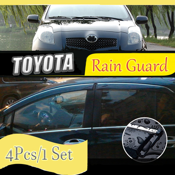 For TOYOTA Land cruiser/prado/reiz/vios/yaris/vitz/Rain Guard/Guard Smoke Window Rain Window Wind Visor 4Pcs/1 Set 2003-2013