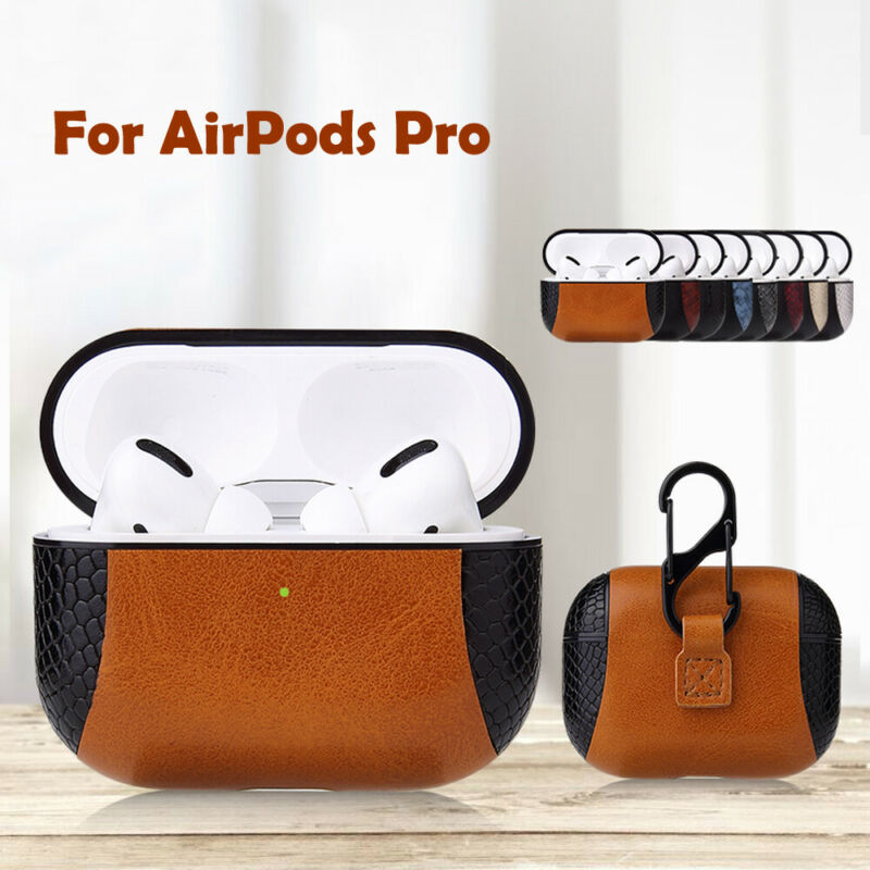 Genuine Leather Airpods Pro Case Earphone Protective Skin Full Cover For Apple AirPod