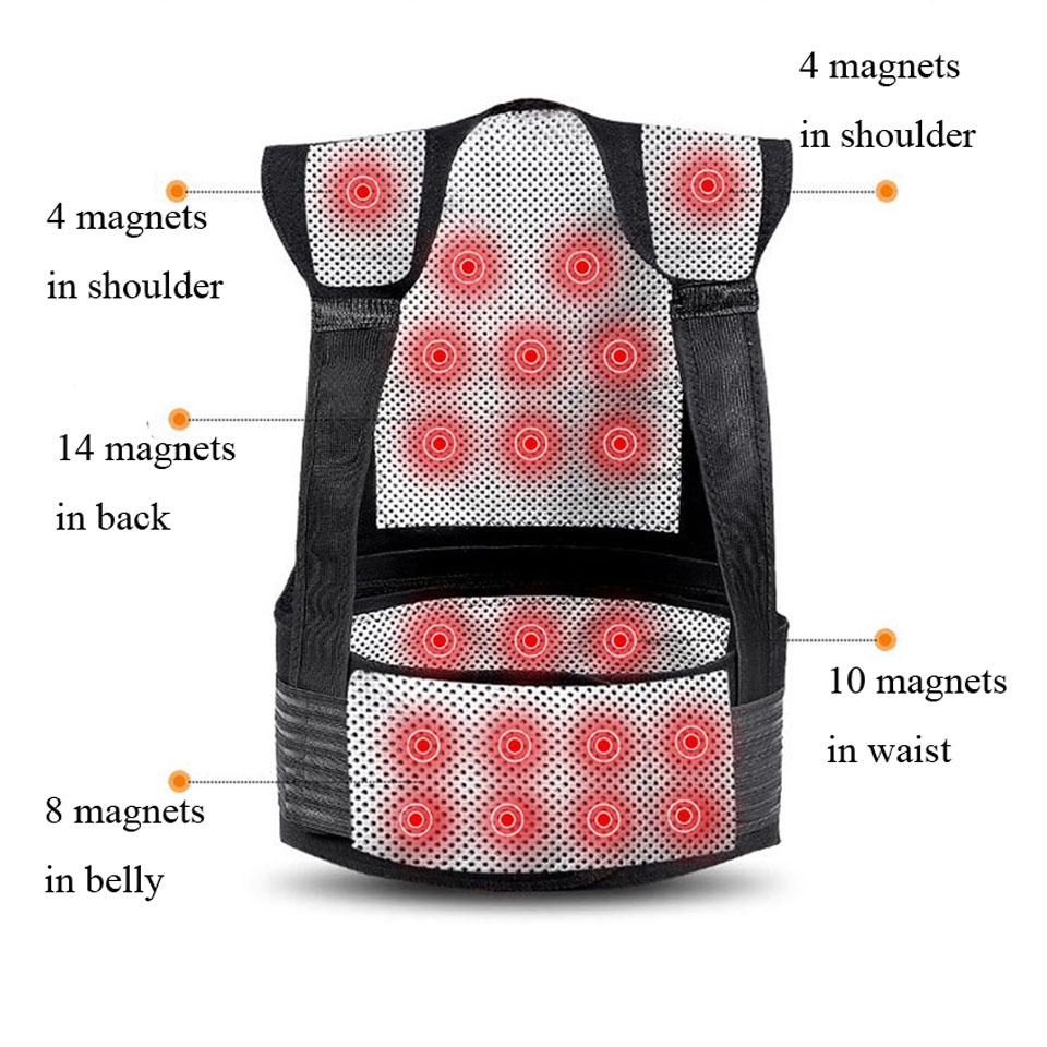 Tourmaline Self Heating Posture Corrector Belt with Nano Infrared Acupuncture Dot Matrix  to Support Spine and Shoulder Helps to Relieve Pain in Back and Joints 5