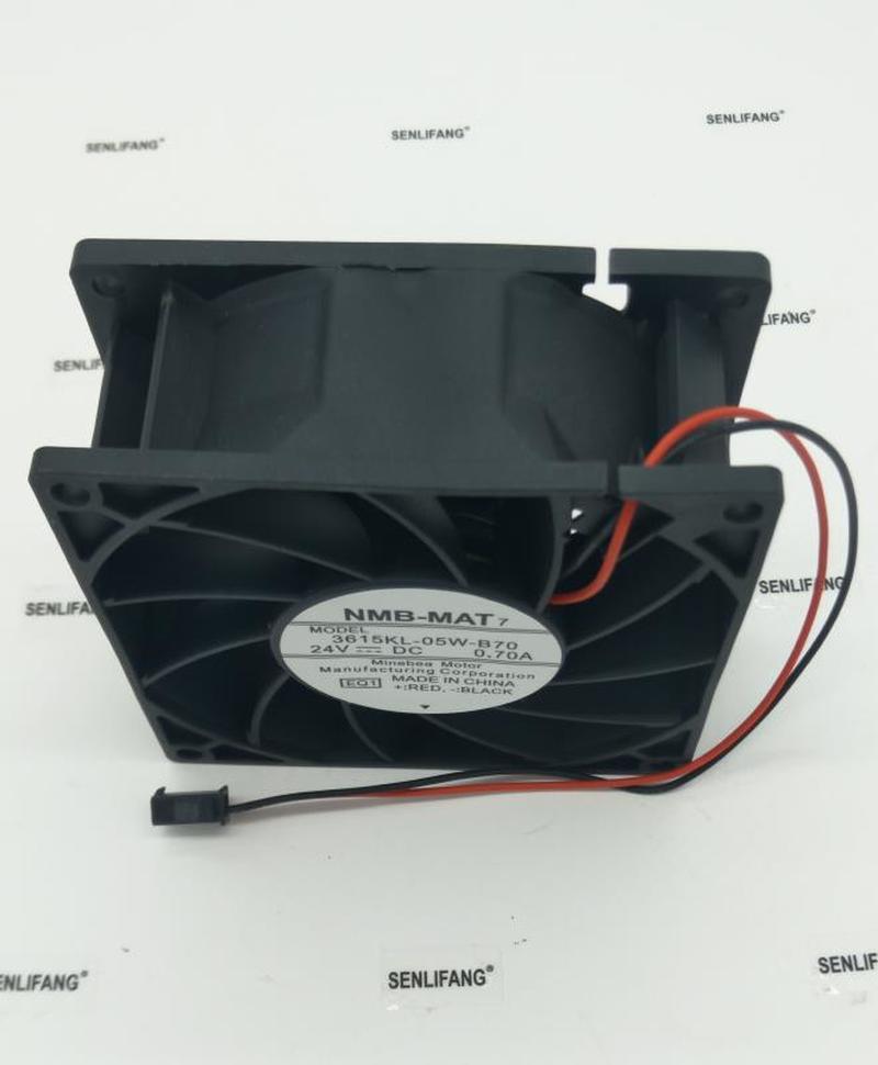 Free Shipping 3615KL-05W-B70 DC 24V 0.70A 2-Wire 92X92X38mm Server Cooler Fan