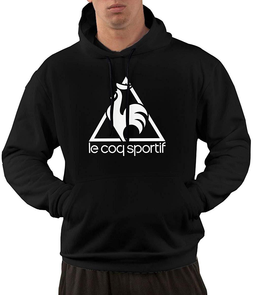 TSDFC Mens Le Coq Sportif Logo Funny Hoodie Sweatshirt Kangaroo Black Unisex Men Women Hoodie