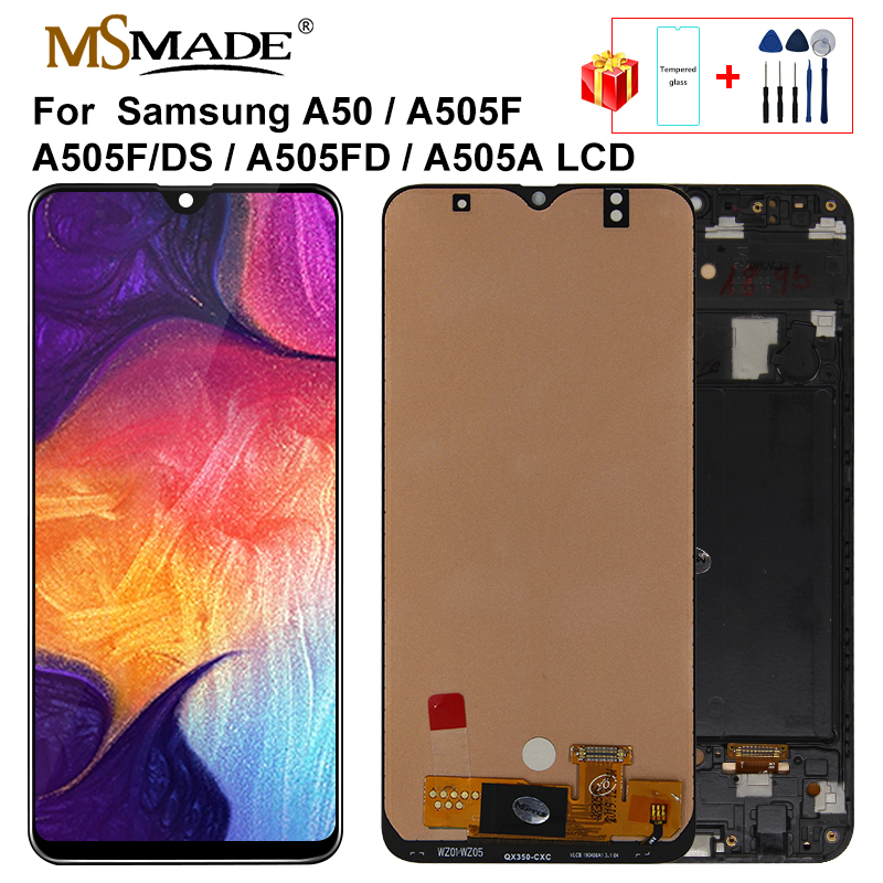 6.4'' LCD For Samsung Galaxy A50 2019 A505F/DS A505F A505A LCD Display Touch Screen Digitizer Assembly For Samsung A50 Lcd