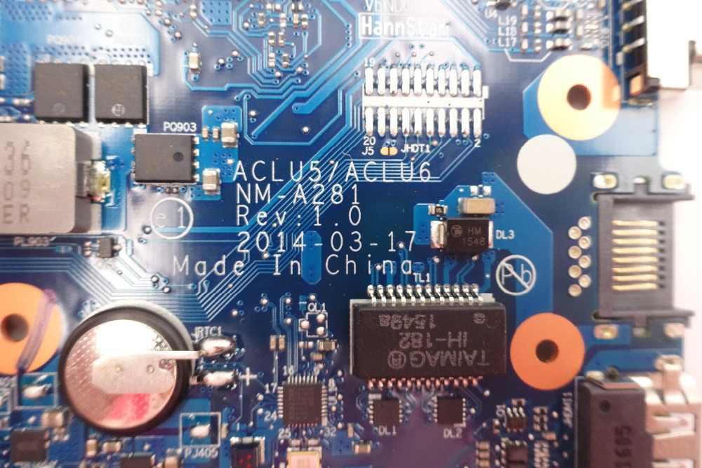 ブランド新 G50-45 ACLU5 ACLU6 NM-A281 マザーボード DDR3 レノボ G50-45 ノートパソコンのマザーボード E1-6010 (amd の cpu) 100% テスト作業