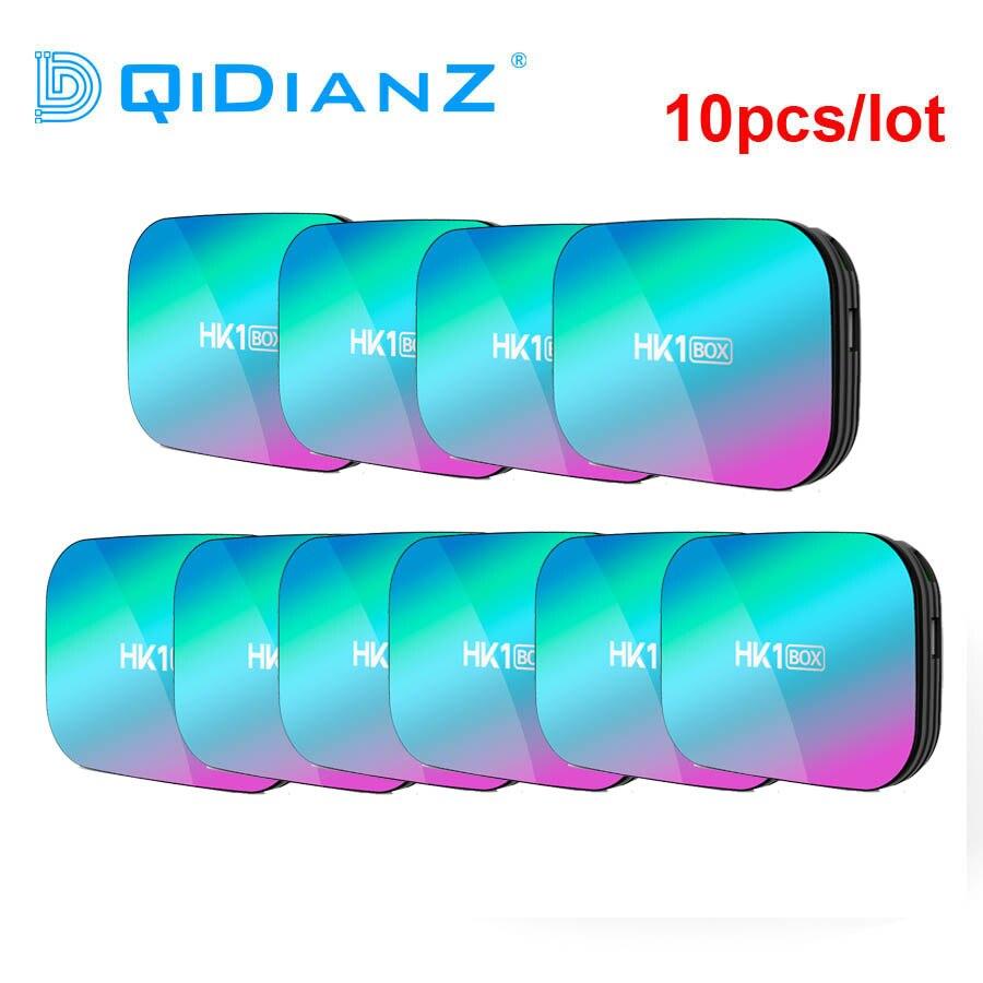 10 pièces/lot HK1 boîte Amlogic S905X3 Smart TV Box Android 9.0 décodeur boîtier multimédia mieux que X96AIR H96MAX X3 X88PRO HK1 X3 A95X