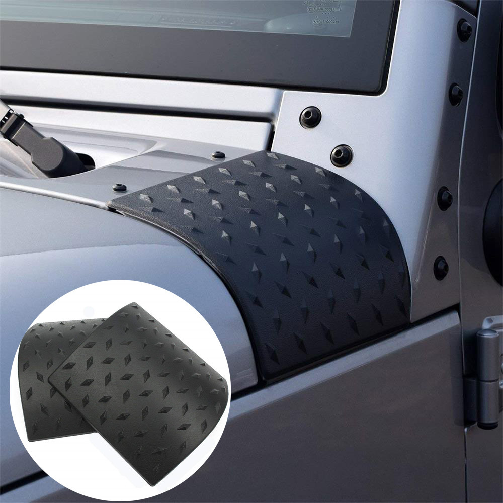 2020 Black Cowl Body Armor Car Side Outer Cowling Cover 2PCS For Jeep Wrangler JK 2007-2016 ABS Body Armor Car Accessories #Ger