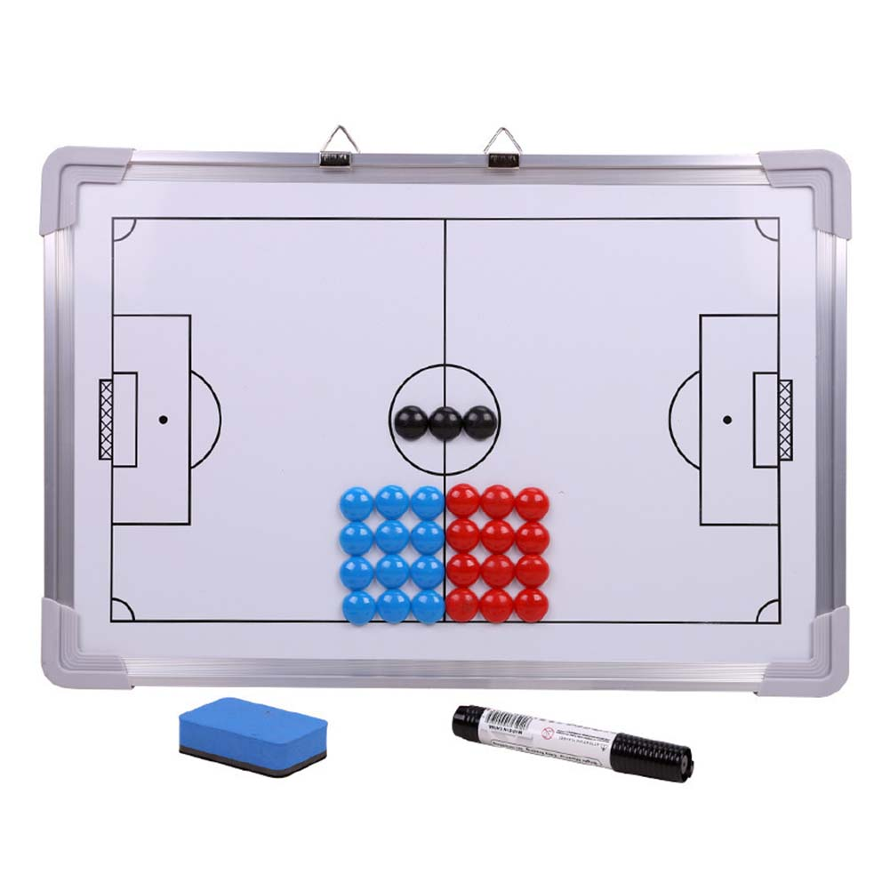 Soccer Tactics Board  With Marker Magnetic Eraser Soccer Coaching Board Strategy Metal Frame Competition Teaching
