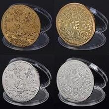 Горячая год крысы памятная монета Китайский Зодиак сувенир вызов коллекционные монеты коллекция Искусство ремесло