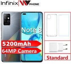 Новая глобальная версия Infinix note 8 6 ГБ 128 мобильный телефон 6,95 ''HD + полный Экран 64-мегапиксельная четырехъядерная камера 5200 мА/ч, Батарея смарт...