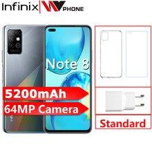 Infinix nota 8 versão global 6gb 128gb telefone móvel 6.95 hd hd hd + tela cheia 64mp quad câmera 5200mah bateria smartphone