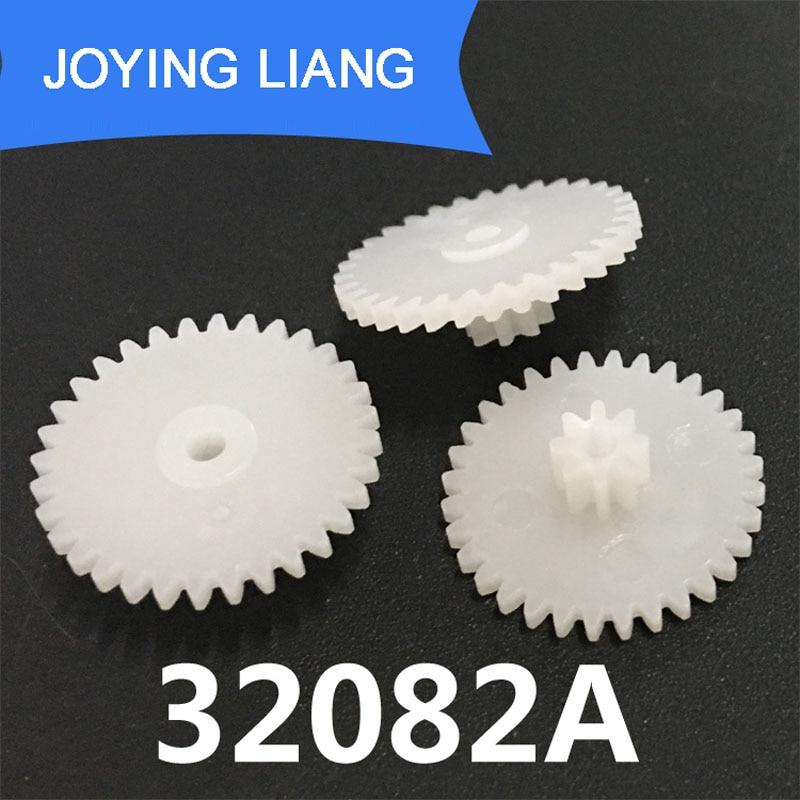 32082A 0.5M Gear 17mm Diameter 32 Teeth + 8 Teeth Two Layer Gears Hole Tight For 2mm Shaft Mechanical Repair Parts