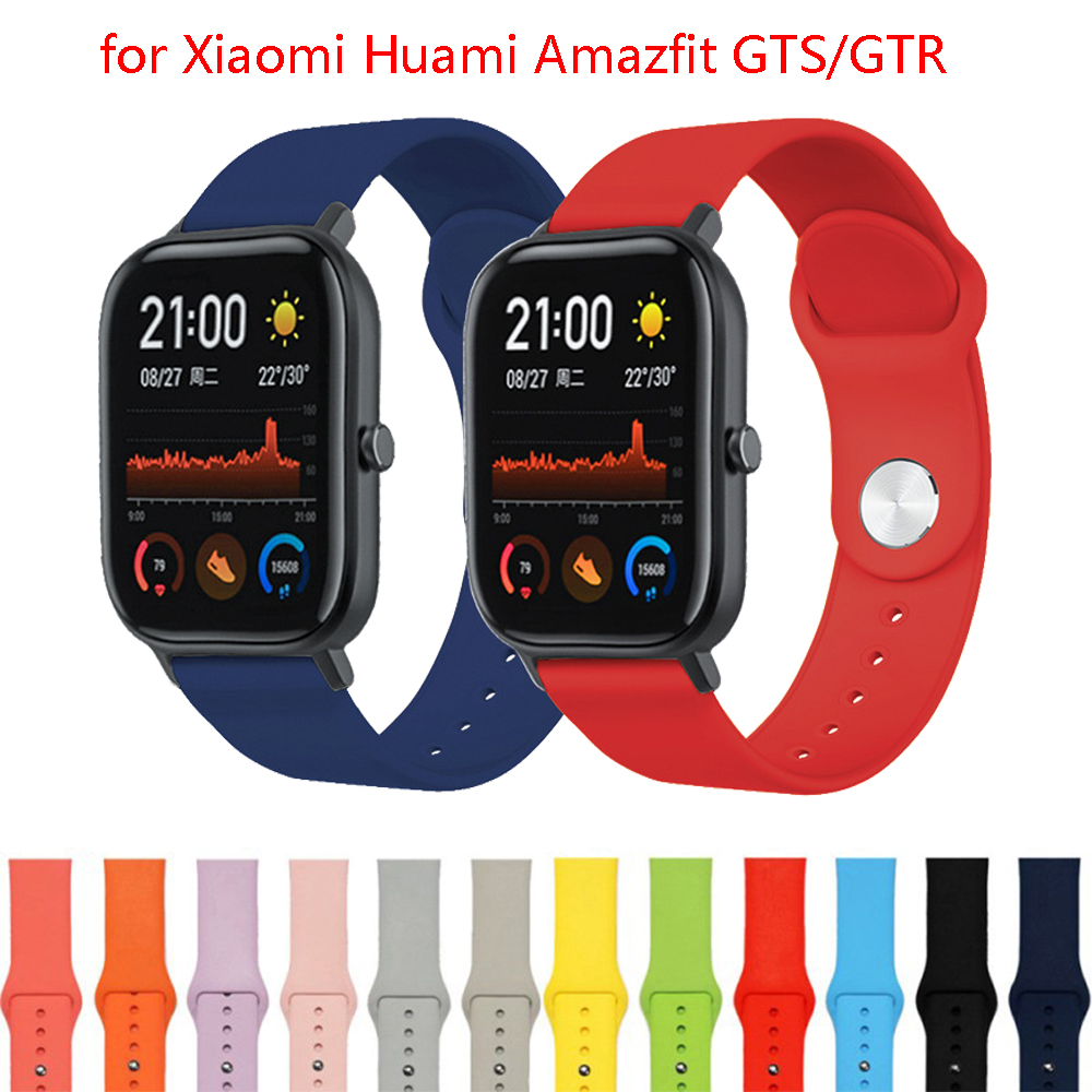 Strap For Correa Amazfit Gts Sport Silicone Bracelets For Xiaomi Huami Amazfit GTS/GTR 42mm/Bip Lite Replace Correa Wrist Strap