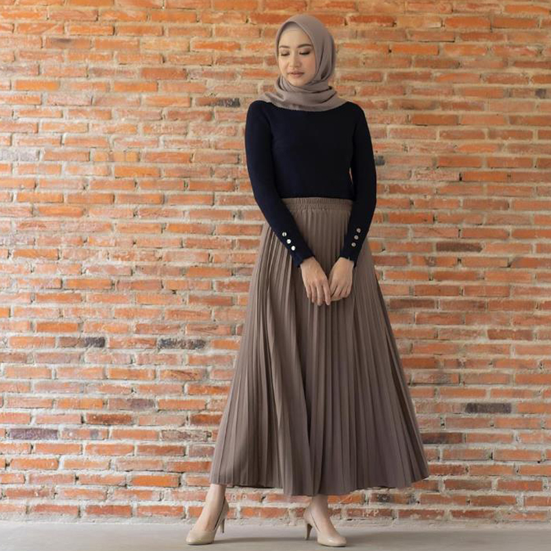 Muslim Pleated Abaya Fashion Muslim Skirt Jupe Musulman Clothing Women Long Skirt For Muslim