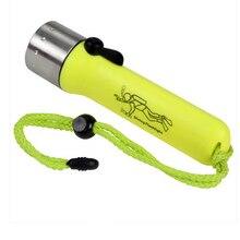 IP68 waterproof underwater flashlight Cree Q5 dive light Aluminum + plastic powerful diving torch Portable lighting