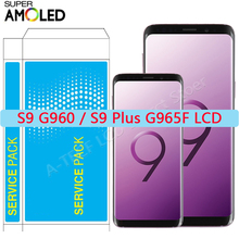 SUPER AMOLED S9 S9 Plus LCD For Samsung S9 S9+ Plus LCD Display Touch Screen With Frame For Galaxy S9 SM G96O G965 LCD Repair