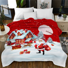 Christmas Blanket Winter Soft Blanket Throw for Chirldren Adult On Bed Sofa Couch Chirstmas Decoration For Home 1024#& black pink bicycle pattern crochet cartoon soft knitted blanket throw for girls children on bed sofa couch kids christmas gift